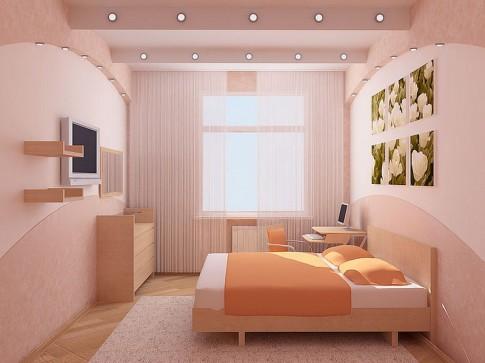 Интерьер спальни фото в маленькой комнате