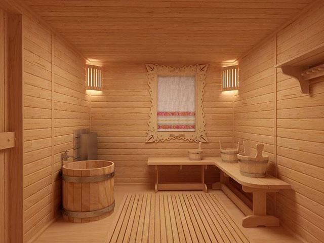 Дизайн интерьера для бани