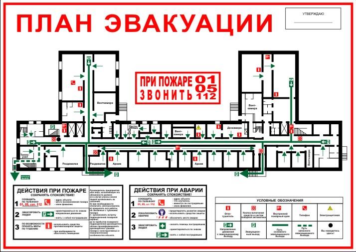 Инструкция К Плану Эвакуации Людей При Возникновении Пожара